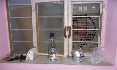INDIE / Radżastan / Jaipur / Falszywe okno i realny parapet