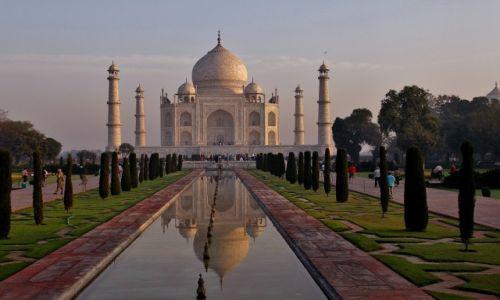 Zdjęcie INDIE / Agra / Taj Mahal / O wschodzie
