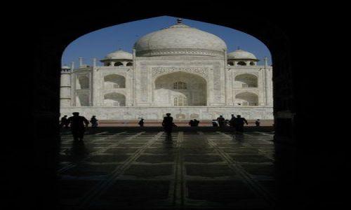 Zdjecie INDIE / brak / Agra / Taj Mahal od zachodniej strony