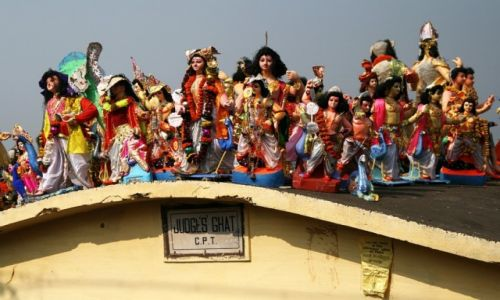 Zdjecie INDIE / Bengal Zachodni / Kalkuta / figurki