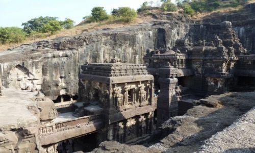 Zdjęcie INDIE /  Maharasztra / Ellora / Skale świątynie