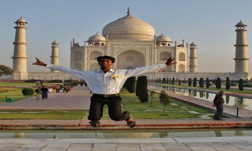 Zdjęcie INDIE / Agra / Taj Mahal / Radość!
