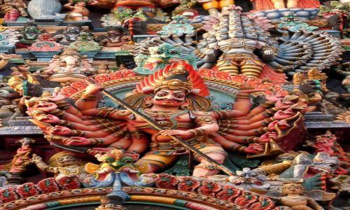 Zdjecie INDIE / Tamil Nadu / Maduraj / Konkurs Moje Indie, rzeźby świątynne