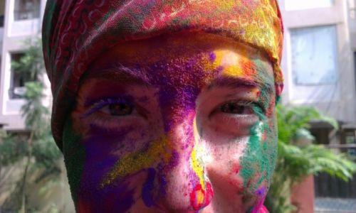 Zdjęcie INDIE / Andhra Pradesh / Hyderabad / Holi Face