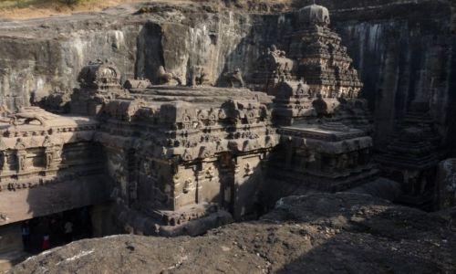 Zdjęcie INDIE / Maharasztra / Ellora / Ellora-Świątynia wykuta w skale
