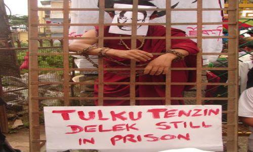 Zdjecie INDIE / brak / McLeod Gandz  siedziba Dalajlamy  / protest - w dniu urodzin Dalajlamy