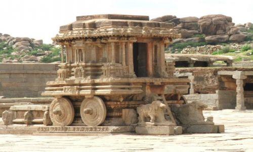 INDIE / Karnataka / Hampi / Kamienny wóz