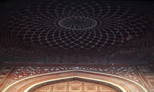 Zdjęcie INDIE / Uttar Pradesh / Agra / meczet przy Taj Mahal