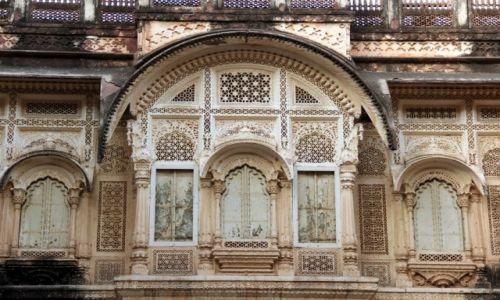 Zdjecie INDIE / Jodhapur / Mehrangarh / tak misterne dekoracje w kamieniu... to wyzwanie