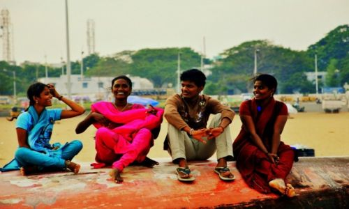 Zdjecie INDIE / Tamilnadu / Chennai / Marina Beach