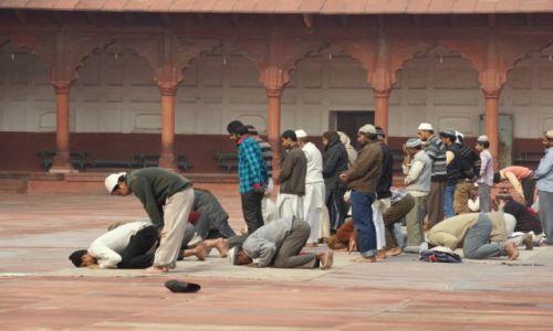 Zdjecie INDIE / - / Agra / Modlitwa w meczecie