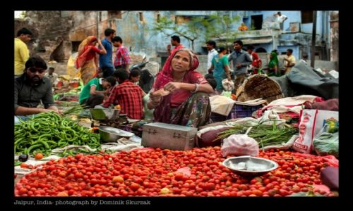 Zdjecie INDIE / Radżastan / Jaipur / TARG KOLORÓW
