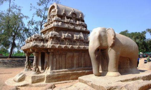 Zdjęcie INDIE / Tamilnadu / Mahabalipuram / Pancha Rathas - Mahabalipuram