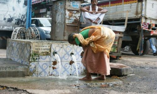 Zdjecie INDIE / - / Kolkata / Indyjska toalet