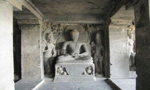 Zdjęcie INDIE / stan Maharashtra / Ellora / groty buddyjskie