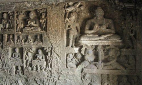 Zdjęcie INDIE / stan Maharashtra / okolice Aurangabadu / buddyjskie świątynie skalne