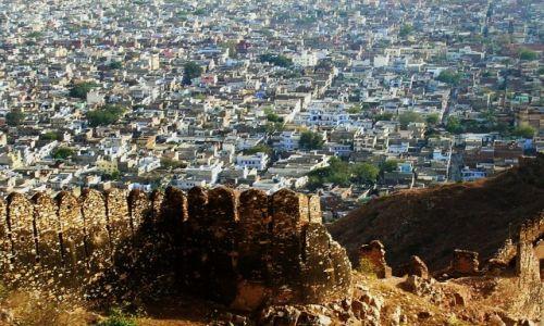 Zdjęcie INDIE / Radżastan / okolice Jaipuru / panorama Dżąjpuru z fortu Nahargarh