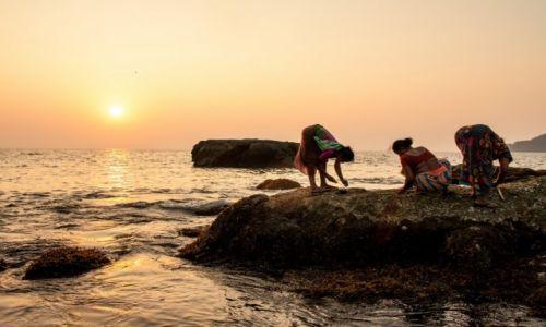 Zdjecie INDIE / Goa / Palolem / Kobiety zbierające owoce morza