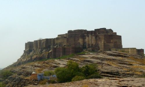 Zdjecie INDIE / Rajasthan / Mehrangarh fort / Malbork wysiada