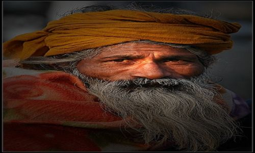 INDIE / Delhi / Ulica / Dziadek Mróz