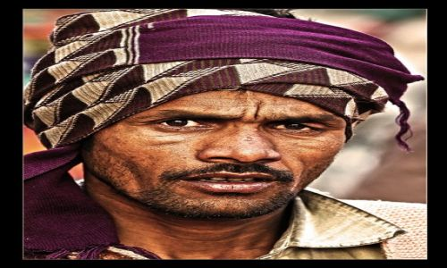 INDIE / Delhi / ulica / Rikszarz