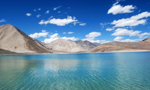 Zdjęcie INDIE / Ladakh / Jezioro Pangong Tso / Magiczne jezioro