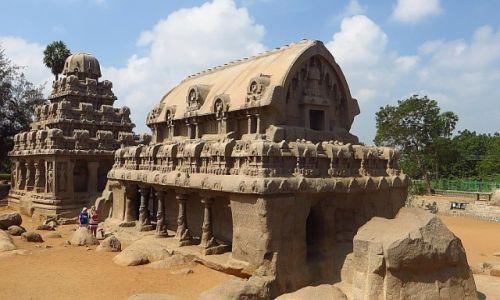 Zdjęcie INDIE / Tamil Nadu / Mahabalipuram / Świątynia Pięciu Rydwanów