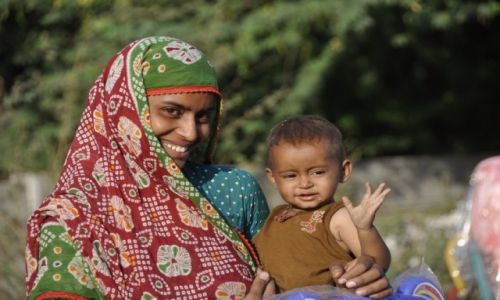 Zdjecie INDIE / Gujarat / Vadodara / PORTRET Z VADODARY