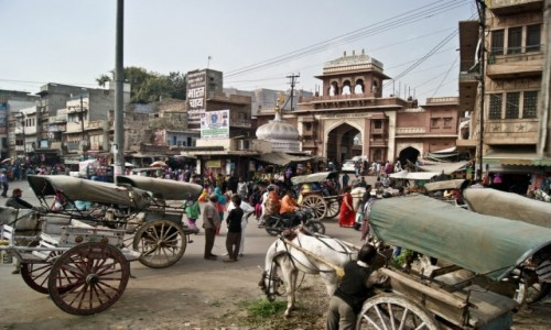 INDIE / Rad�astan / Jodhpur / ulice Jodhpuru