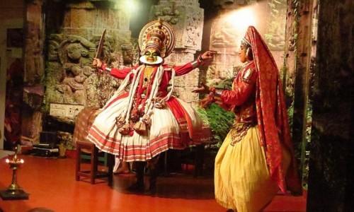 Zdjęcie INDIE / Kerala / Cochin / taniec Kathakali
