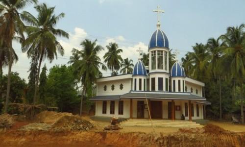 Zdjęcie INDIE / Kerala / gdzieś na trasie / kościoły Kerali