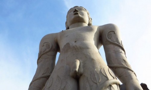 Zdjecie INDIE / Karnataka / Śrevanabelagola / statua Lorda Bahubali