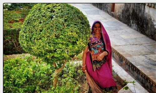 INDIE / Radzastan / Amber fort / Jaipur woman