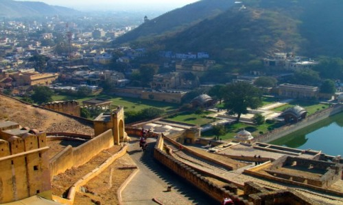 Zdjecie INDIE / Jaipur / Fort Amber / Widok z Fortu A