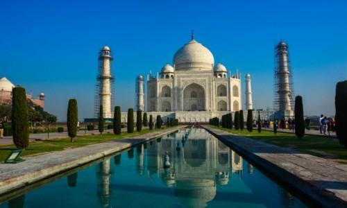 Zdjecie INDIE / p�noc / Agra / Taj Mahal w rem