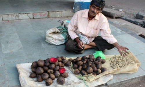 INDIE / Madhya Pradesh / Bhopal / Pravin - handel na ulicy miasta Bhopal