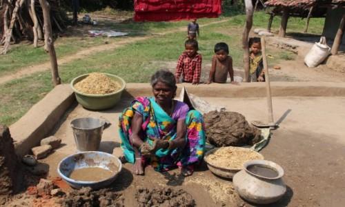 INDIE / Madhya Pradesh / Wioska / Konstrukcja domu