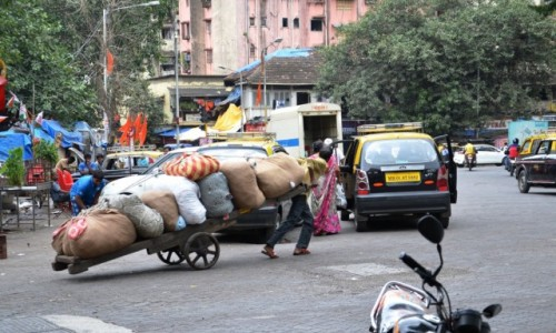 Zdjęcie INDIE / Maharasztra / Mumbaj / Mumbaj on the road