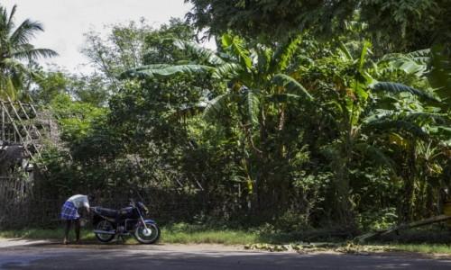 Zdjecie INDIE / Tamil Nadu / - / mycie motocykla