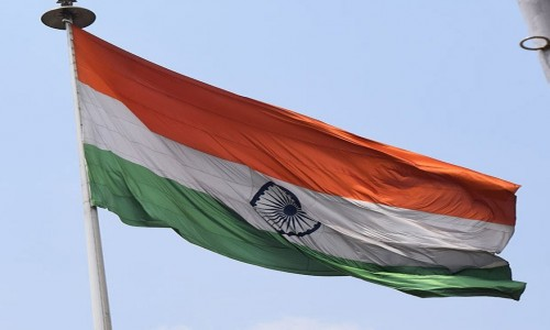 Zdjęcie INDIE / Karnataka / Bangalore / Flaga