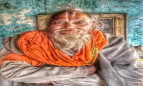 Zdjęcie INDIE / - / Monkey temple / Mnich