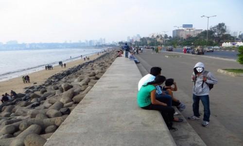 Zdjęcie INDIE / Maharasztra / Mumbaj / Nadmorski bulwar