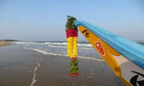 Zdjęcie INDIE / Goa / Old Goa /  oko i girlanda
