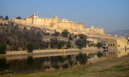 Zdjecie INDIE / Radżastan / Fort  Amber, Jaipur / Bursztynowy
