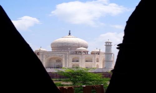 Zdjecie INDIE / Uttar Pradesh / Agra / Taj Mahal z ukrycia