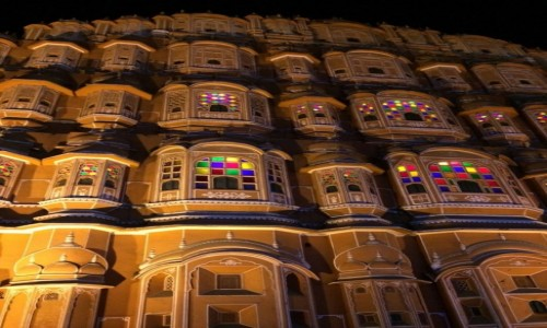 INDIE / Rajasthan / Jaipur / Pałac Wiatrów  Hawa-Mahal