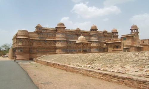 Zdjecie INDIE / Madhya Pradeś / Gwalijar /  Fort Gwalijar - Pałac Man Singha