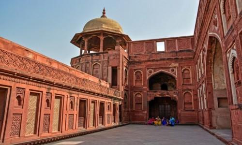 INDIE / - / Agra / Czerwony Fort w Agrze