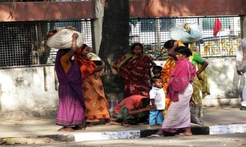 INDIE / Bengal Zachodni / Kalkuta / kumoszki z Kalkuty