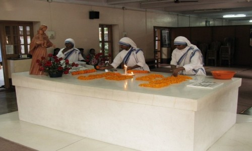 Zdjecie INDIE / Bengal Zachodni / Kalkuta / grobowiec Matki Teresy z Kalkuty